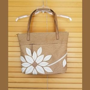 """Relic """"Sophie"""" tote bag with flower patchwork"""